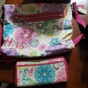 Authentic spring pattern Coach